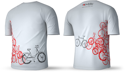 Republic Bike Sketch T-shirt (Gray)